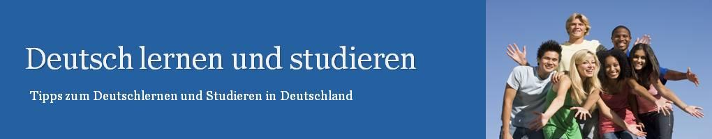 Deutsch lernen und studieren in Deutschland header image